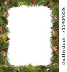 Christmas Frame With Holly...