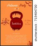 vector template of halloween... | Shutterstock .eps vector #715404730