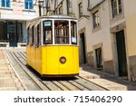 the gloria funicular in the... | Shutterstock . vector #715406290