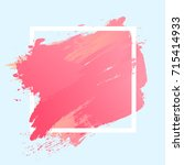 gradient soft pink strokes with ... | Shutterstock .eps vector #715414933