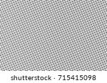 black and white dotted halftone ... | Shutterstock .eps vector #715415098
