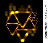 lighting geometrical shapes on... | Shutterstock . vector #715419874