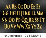 english alphabet  signs and... | Shutterstock .eps vector #715420048