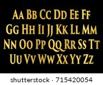 english alphabet  signs and... | Shutterstock .eps vector #715420054
