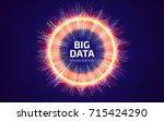 big data visualization. fractal ... | Shutterstock .eps vector #715424290