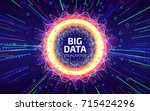 big data visualization. fractal ... | Shutterstock .eps vector #715424296