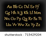 english alphabet  signs and...   Shutterstock .eps vector #715429204