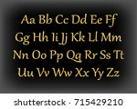 english alphabet  signs and... | Shutterstock .eps vector #715429210