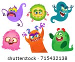 cartoon monsters collection.... | Shutterstock .eps vector #715432138