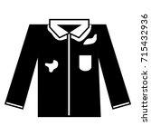 contour elegant shirt with dirt ... | Shutterstock .eps vector #715432936