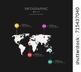 infographics business marketing ... | Shutterstock .eps vector #715437040