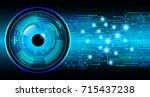 binary circuit future... | Shutterstock .eps vector #715437238
