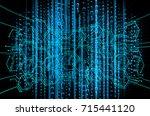 binary circuit future... | Shutterstock . vector #715441120