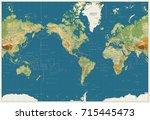 world map americas centered... | Shutterstock .eps vector #715445473