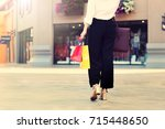 young happy shopping woman with