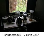 set drip coffee | Shutterstock . vector #715452214