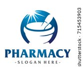 medical and pharmacy logo vector | Shutterstock .eps vector #715453903
