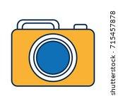 photographic camera icon  | Shutterstock .eps vector #715457878