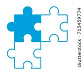 jigsaw puzzles icon   Shutterstock .eps vector #715459774