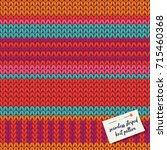 colorful knitted stripes... | Shutterstock .eps vector #715460368