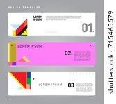 vector abstract design banner... | Shutterstock .eps vector #715465579