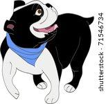 cheerful english bulldog   Shutterstock . vector #71546734