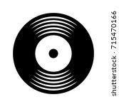 music vinyl disk vintage cartoon | Shutterstock .eps vector #715470166