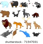 animals of north america ... | Shutterstock . vector #71547031