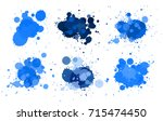 different design fo watercolor... | Shutterstock .eps vector #715474450