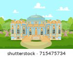 cute romantic palace for a... | Shutterstock .eps vector #715475734