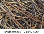 rusted steel wire scrap.wire... | Shutterstock . vector #715477654