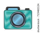 photographic camera icon  | Shutterstock .eps vector #715482124