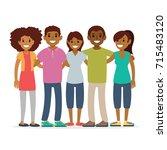 group of friends  enjoying life | Shutterstock .eps vector #715483120
