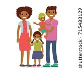 family  mother  father and... | Shutterstock .eps vector #715483129