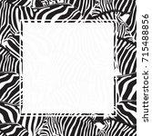 zebra print border design....   Shutterstock .eps vector #715488856