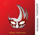 happy halloween | Shutterstock .eps vector #715491679