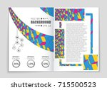abstract vector layout...   Shutterstock .eps vector #715500523