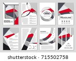 abstract vector layout... | Shutterstock .eps vector #715502758