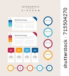 diagram set | Shutterstock .eps vector #715504270