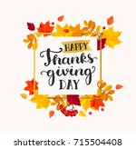 happy thanksgiving day banner... | Shutterstock .eps vector #715504408