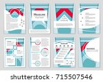 abstract vector layout...   Shutterstock .eps vector #715507546