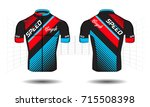 cycle jersey.cycling shirt... | Shutterstock .eps vector #715508398