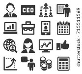 ceo and business management... | Shutterstock .eps vector #715511569