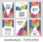 abstract vector layout... | Shutterstock .eps vector #715511923