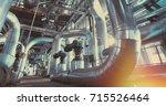 industrial zone  steel... | Shutterstock . vector #715526464