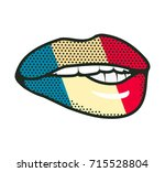 lips france flag | Shutterstock .eps vector #715528804