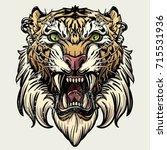 saber toothed tiger   Shutterstock .eps vector #715531936