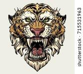 vector illustration head... | Shutterstock .eps vector #715531963