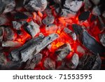 Decaying Coals For Cooking And...