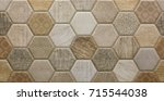 mosaic ceramic tile with... | Shutterstock . vector #715544038